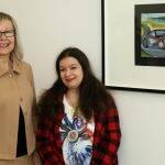 Sabine Funk und mit Künstlerin