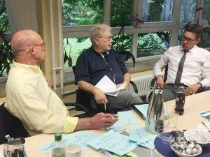 Roland Freese, Prof. Dr. Matthias Wildermuth und Jochen Schütz