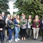 Die fünf glücklichen Absolventinnen der Frühjahrsprüfung der Vitos Schule für Gesundheitsberufe Riedstadt