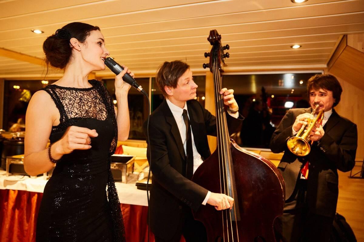 Jazz Trio Mayence zusammen mit der Sängerin Anita Hopt
