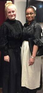 Schlüpften in die Rollen von Florence Nightingale und Agnes Karll