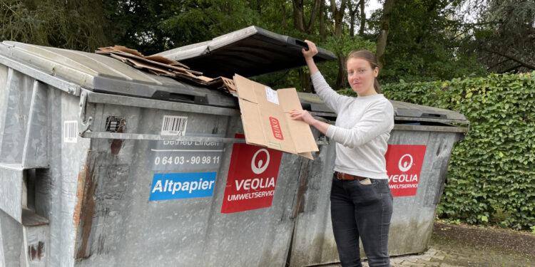 Ziel ist, den Müllberg zu verkleinern